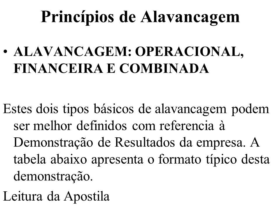 MEDINDO O GRAU DE ALAVANCAGEM OPERACIONAL GAO =Variação percentual do LAJIR / Variação percentual das vendas