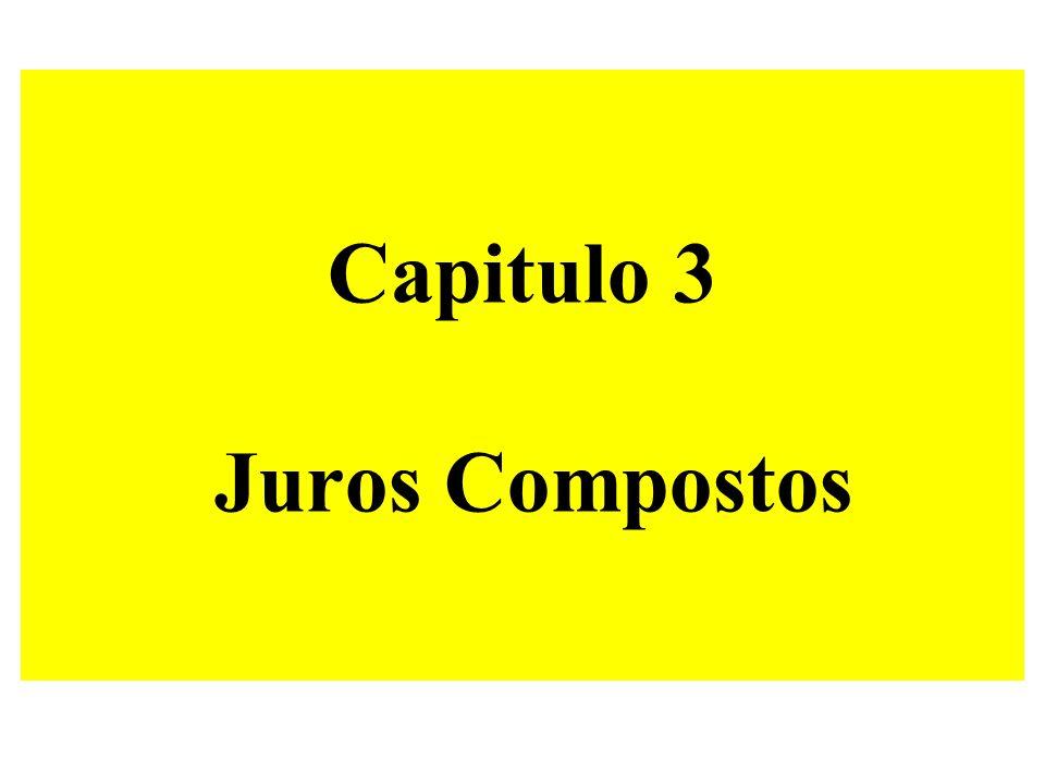 Formula JUROS COMPOSTOS VF = VP ( 1 + i ) n