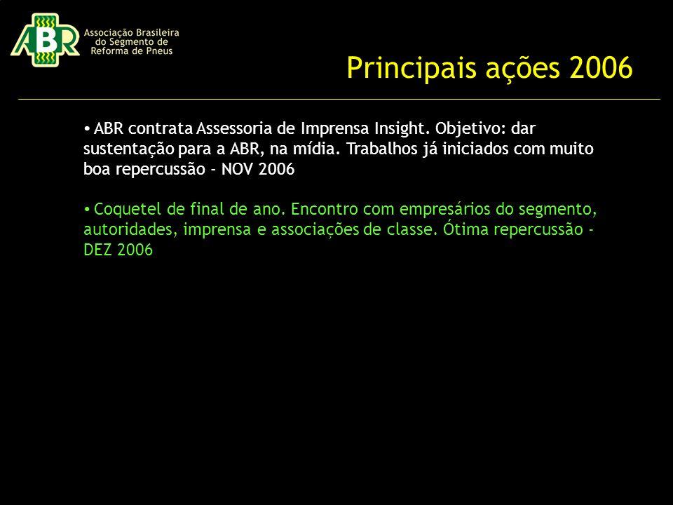 Principais ações 2006 ABR contrata Assessoria de Imprensa Insight.