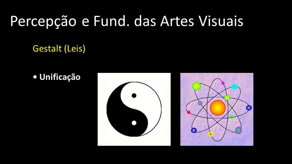 Percepção e Fund. das Artes Visuais Gestalt (Leis) Unificação