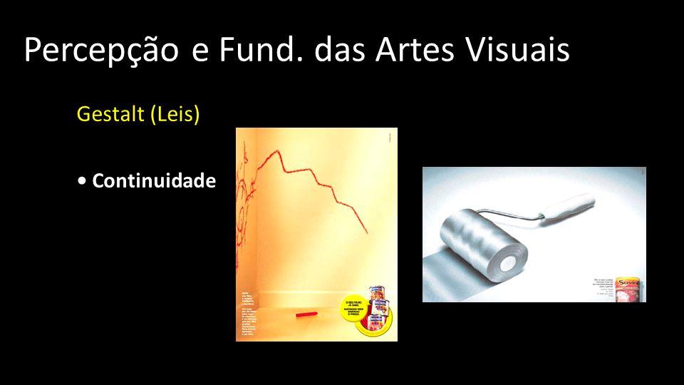 Percepção e Fund. das Artes Visuais Gestalt (Leis) Continuidade