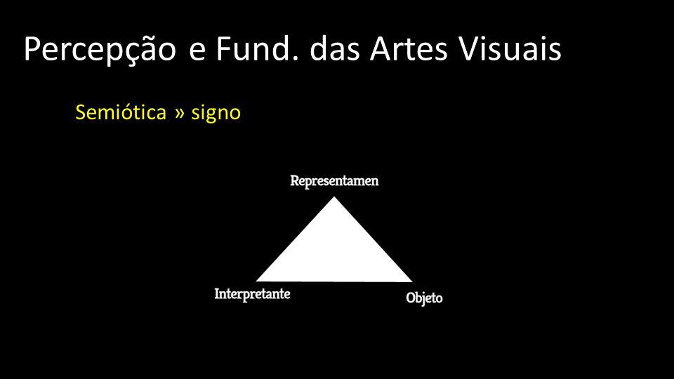 Percepção e Fund. das Artes Visuais Semiótica » signo