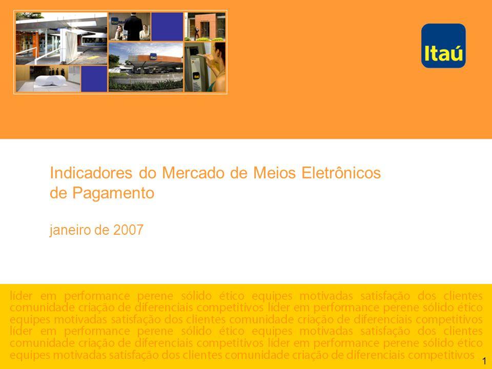 1 Indicadores do Mercado de Meios Eletrônicos de Pagamento janeiro de 2007