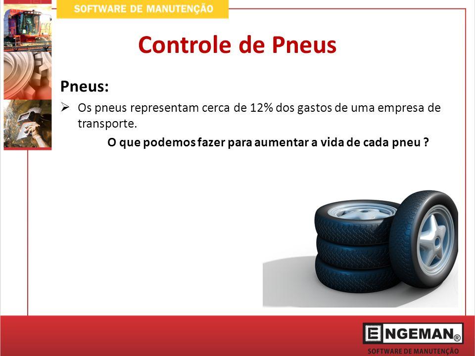 Controle de Pneus Pneus: Os pneus representam cerca de 12% dos gastos de uma empresa de transporte. O que podemos fazer para aumentar a vida de cada p