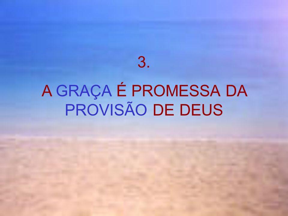 3. A GRAÇA É PROMESSA DA PROVISÃO DE DEUS