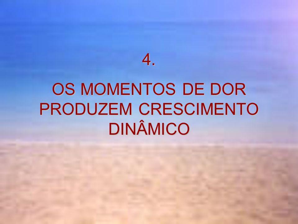 4. OS MOMENTOS DE DOR PRODUZEM CRESCIMENTO DINÂMICO
