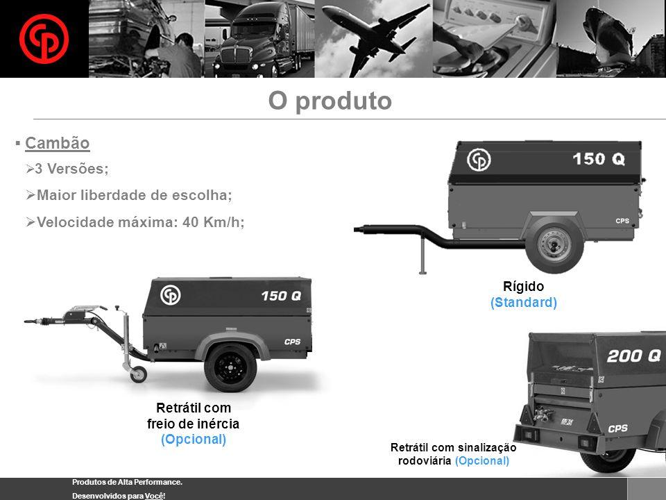 Produtos de Alta Performance. Desenvolvidos para Você! O produto Cambão 3 Versões; Maior liberdade de escolha; Velocidade máxima: 40 Km/h; Retrátil co
