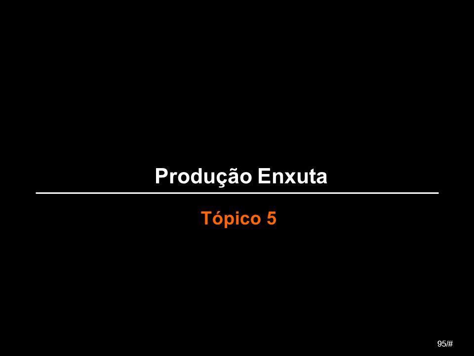 Produção Enxuta Tópico 5 95/#