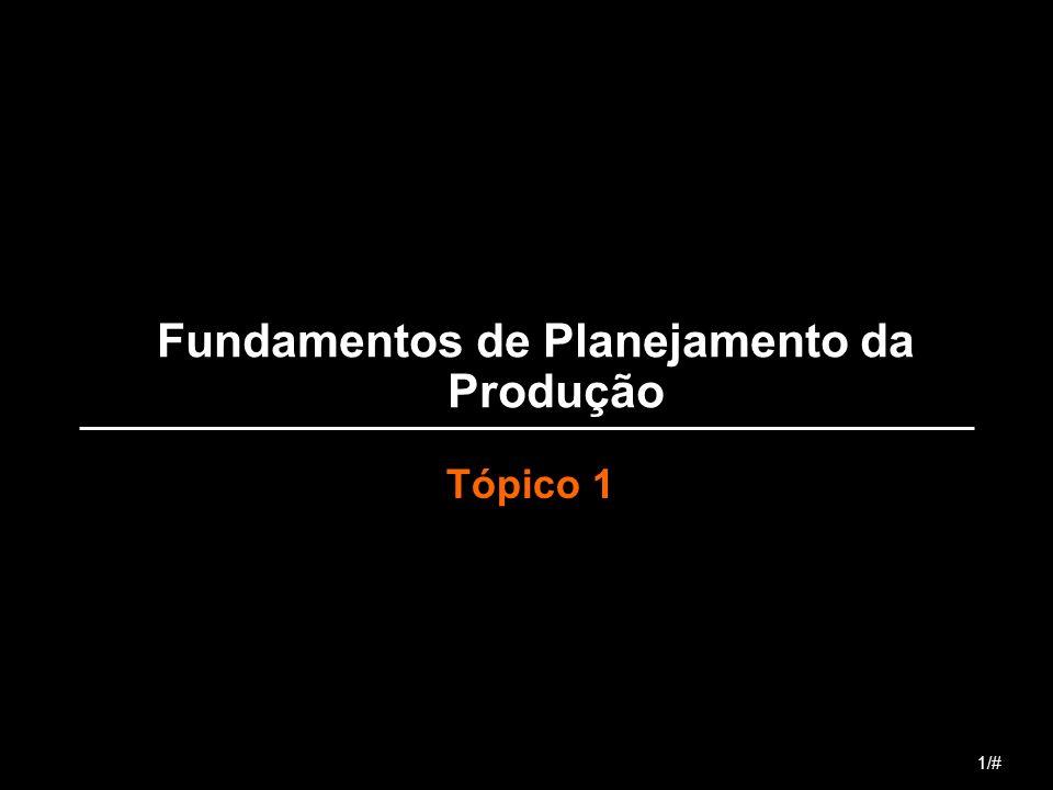 Fundamentos de Planejamento da Produção Tópico 1 1/#