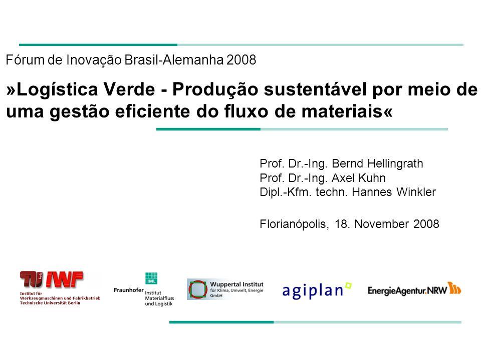 Fórum de Inovação Brasil-Alemanha 2008 »Logística Verde - Produção sustentável por meio de uma gestão eficiente do fluxo de materiais« Prof.
