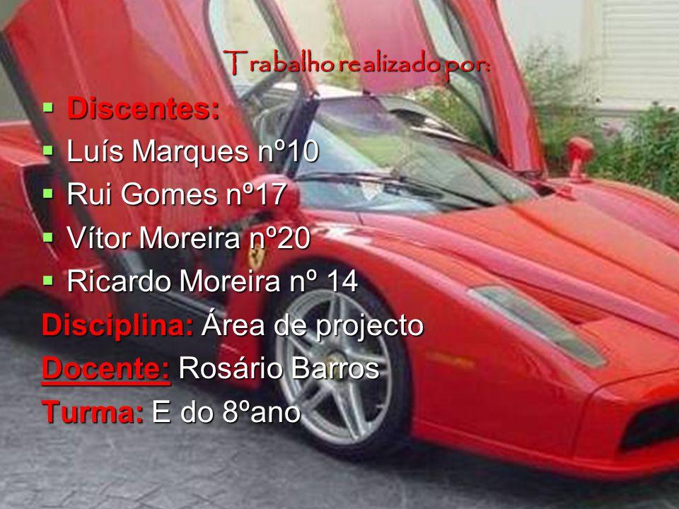 Trabalho realizado por: Discentes: Discentes: Luís Marques nº10 Luís Marques nº10 Rui Gomes nº17 Rui Gomes nº17 Vítor Moreira nº20 Vítor Moreira nº20