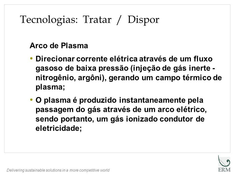 Delivering sustainable solutions in a more competitive world Arco de Plasma Direcionar corrente elétrica através de um fluxo gasoso de baixa pressão (