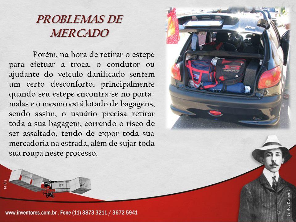 SOLUÇÃO Foi pensando nisso que o Inventor Walter Bezerra da Silva desenvolveu o projeto Gaveta retrátil para Pneu estepe, com o objetivo de proporcionar maior comodidade, conforto e segurança ao proprietário do veículo.