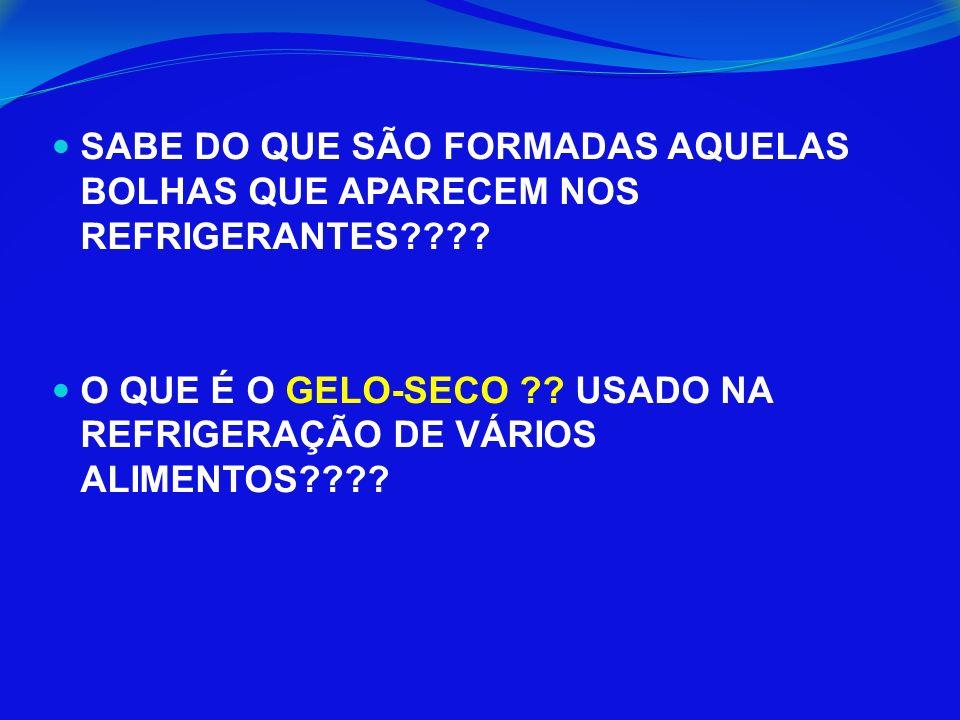 SABE DO QUE SÃO FORMADAS AQUELAS BOLHAS QUE APARECEM NOS REFRIGERANTES???.