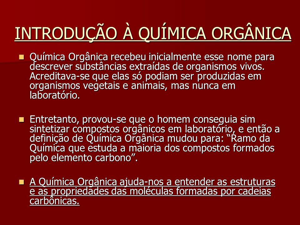 CARACTERÍSTICAS Dentro da química orgânica existem as funções orgânicas (compostos orgânicos de características químicas e físicas semelhantes).