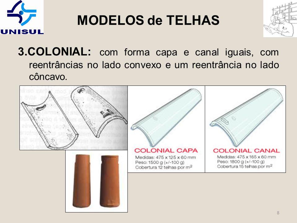 8 3.COLONIAL: com forma capa e canal iguais, com reentrâncias no lado convexo e um reentrância no lado côncavo.
