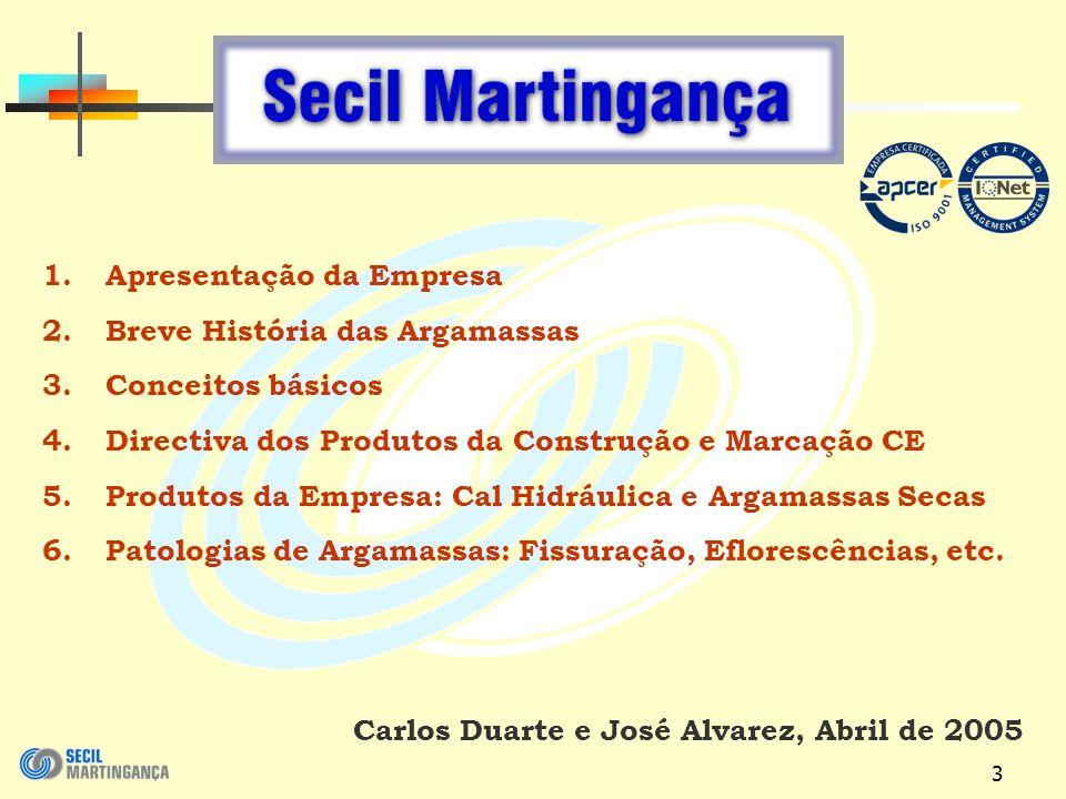 3 Carlos Duarte e José Alvarez, Abril de 2005 1.Apresentação da Empresa 2.