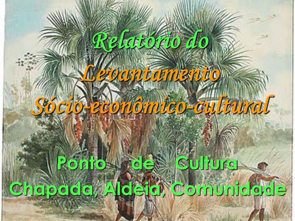 Relatório do Levantamento Sócio-econômico-cultural Ponto de Cultura Chapada, Aldeia, Comunidade