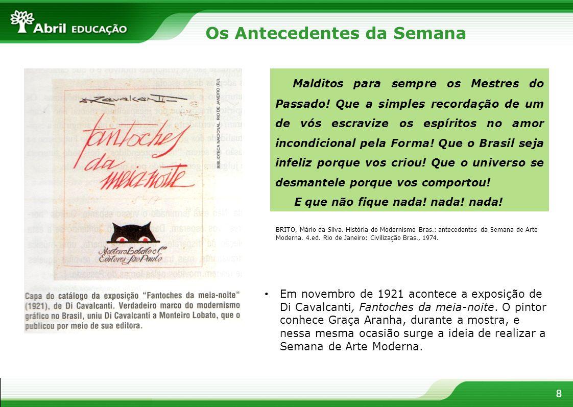9 A Semana - documentação Capa do catálogo da exposição de artes plásticas da Semana, desenho assinado por Di Cavalcanti.