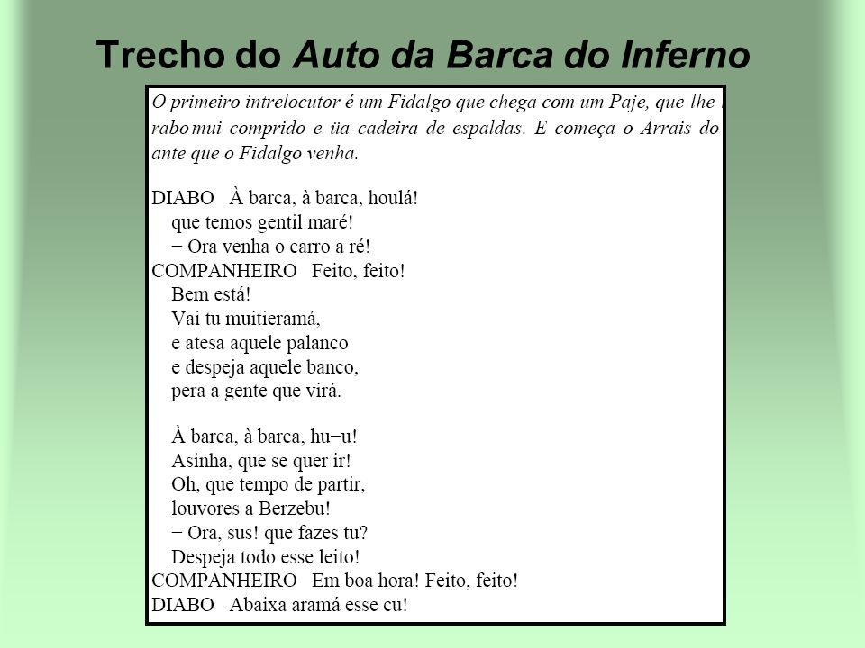 Trecho do Auto da Barca do Inferno