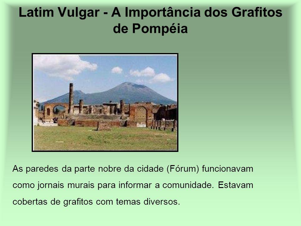 As paredes da parte nobre da cidade (Fórum) funcionavam como jornais murais para informar a comunidade. Estavam cobertas de grafitos com temas diverso