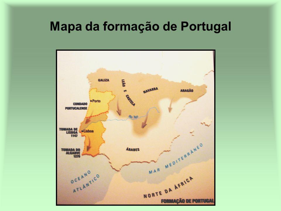 Mapa da formação de Portugal