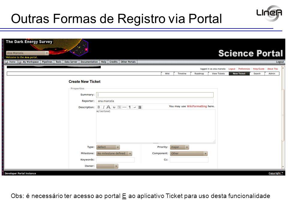 Pontos Fortes do Ticket Envia e-mail para o solicitante do serviço em qualquer alteração de campo(s) Customizável (aplicativo, consultas / filtros e relatórios) Anexa arquivos Permite troca de informações entre envolvidos