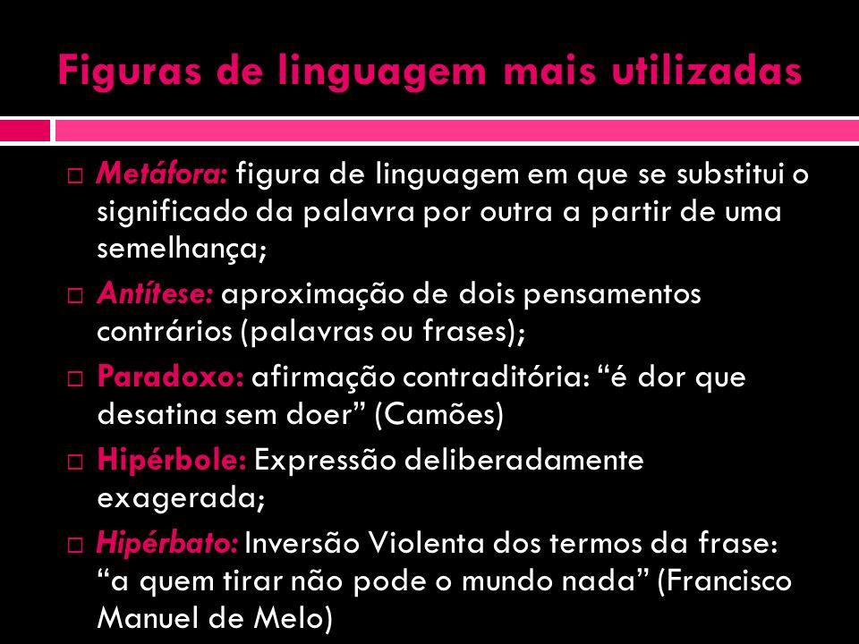 Aos Vícios (trechos) Gregório de Matos Eu sou aquele que os passados anos Cantei na minha lira maldizente Torpezas do Brasil, vícios e enganos.