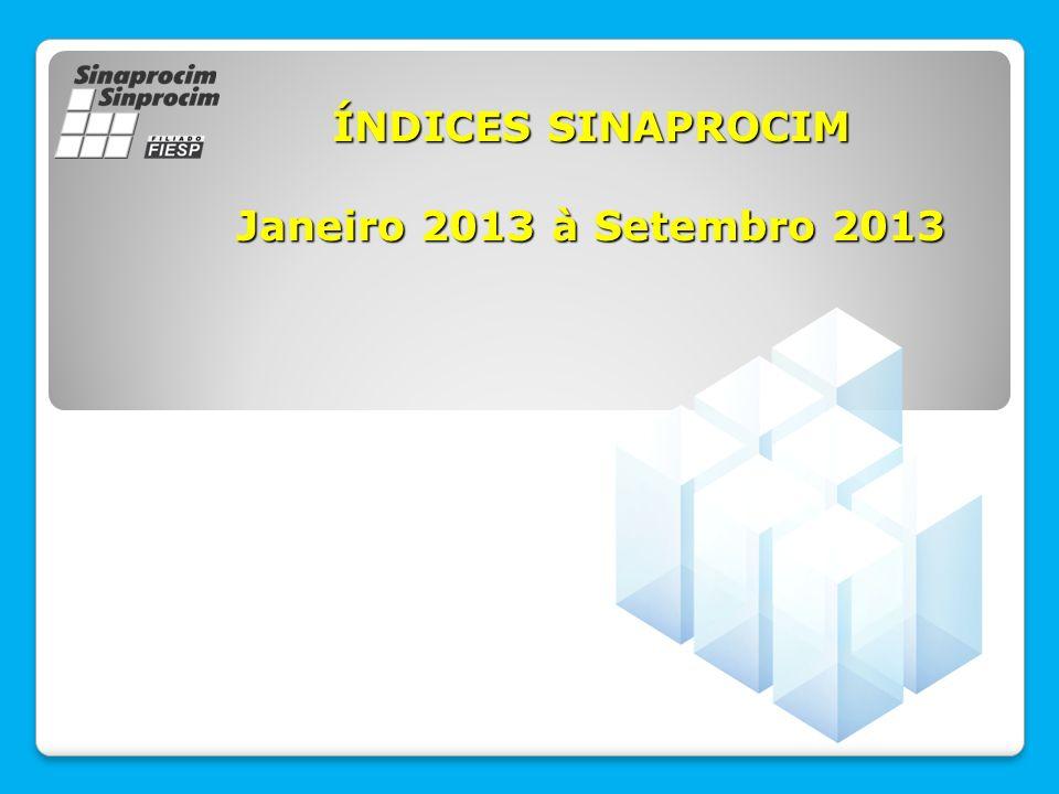 ÍNDICES SINAPROCIM Janeiro 2013 à Setembro 2013