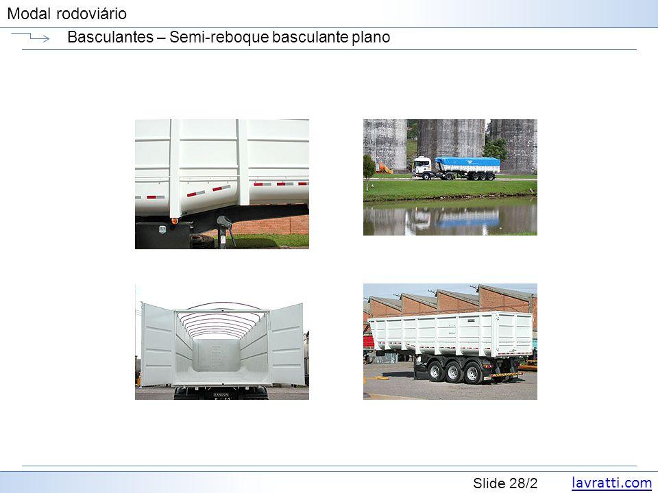 lavratti.com Slide 28/2 Modal rodoviário Basculantes – Semi-reboque basculante plano
