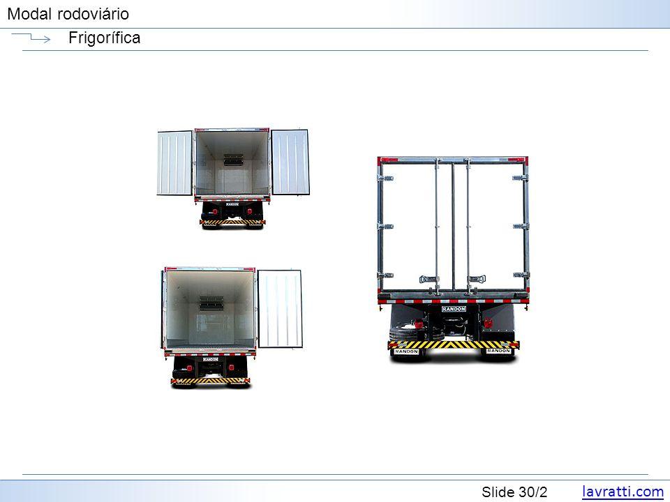 lavratti.com Slide 30/2 Modal rodoviário Frigorífica