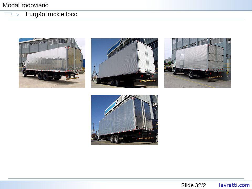 lavratti.com Slide 32/2 Modal rodoviário Furgão truck e toco