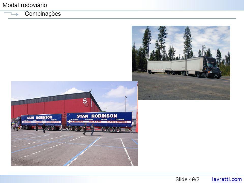 lavratti.com Slide 49/2 Modal rodoviário Combinações
