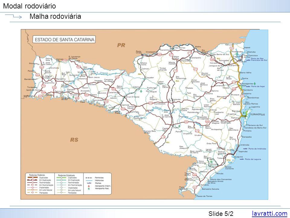 lavratti.com Slide 36/2 Modal rodoviário Sider truck e toco