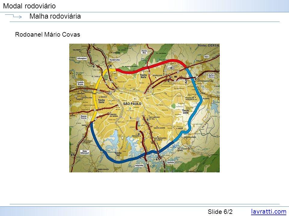 lavratti.com Slide 47/2 Modal rodoviário Frota FedEx