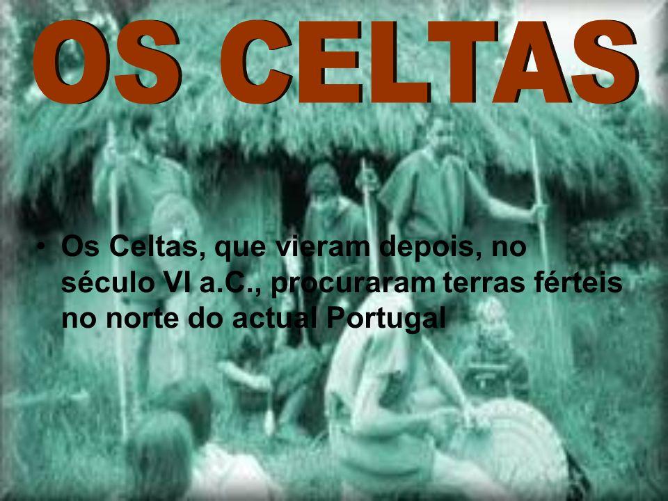 Os Celtas, que vieram depois, no século VI a.C., procuraram terras férteis no norte do actual Portugal