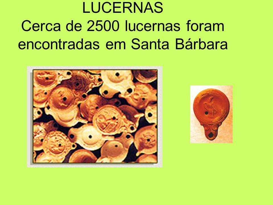 LUCERNAS Cerca de 2500 lucernas foram encontradas em Santa Bárbara