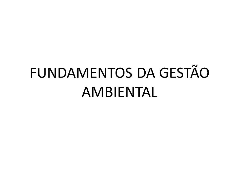 FUNDAMENTOS DA GESTÃO AMBIENTAL