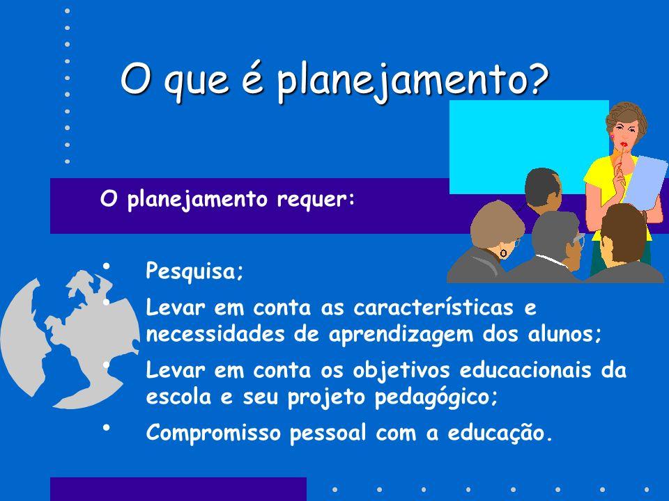 PLANEJAMENTO É processo de conhecimento da escola e da sociedade em que vivemos; Relação entre educação e realidade; É processo que se preocupa com para onde ir(PPP) e como chegar lá(Regimento).