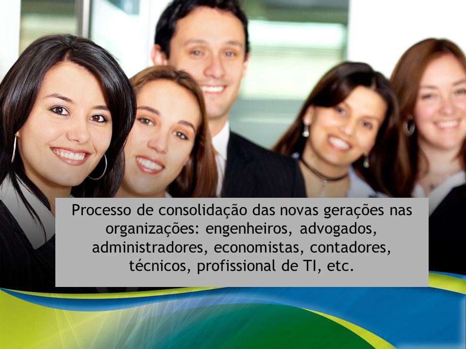 A EDUCAÇÃO CORPORATIVA DO SISTEMA ELETROBRAS Processo de consolidação das novas gerações nas organizações: engenheiros, advogados, administradores, ec