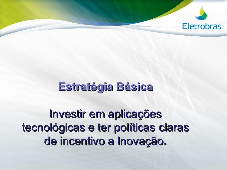 Estratégia Básica Investir em aplicações tecnológicas e ter políticas claras de incentivo a Inovação.