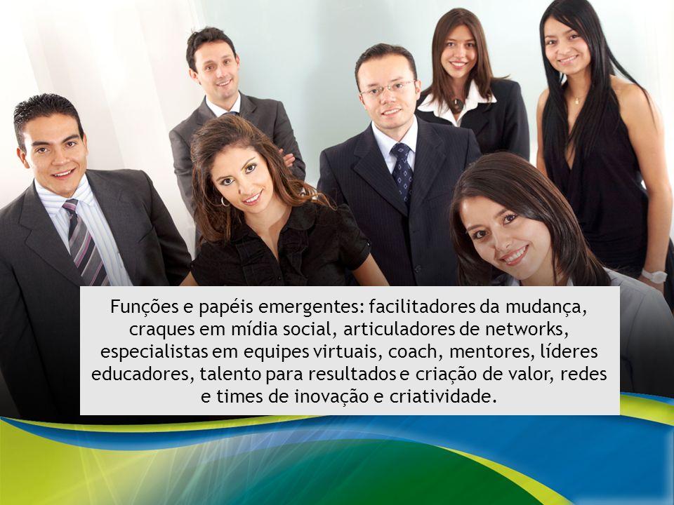 MODELO EDUCATIVO PARA O SISTEMA ELETROBRAS Funções e papéis emergentes: facilitadores da mudança, craques em mídia social, articuladores de networks,