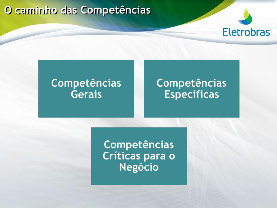 O caminho das Competências Competências Gerais Competências Específicas Competências Críticas para o Negócio