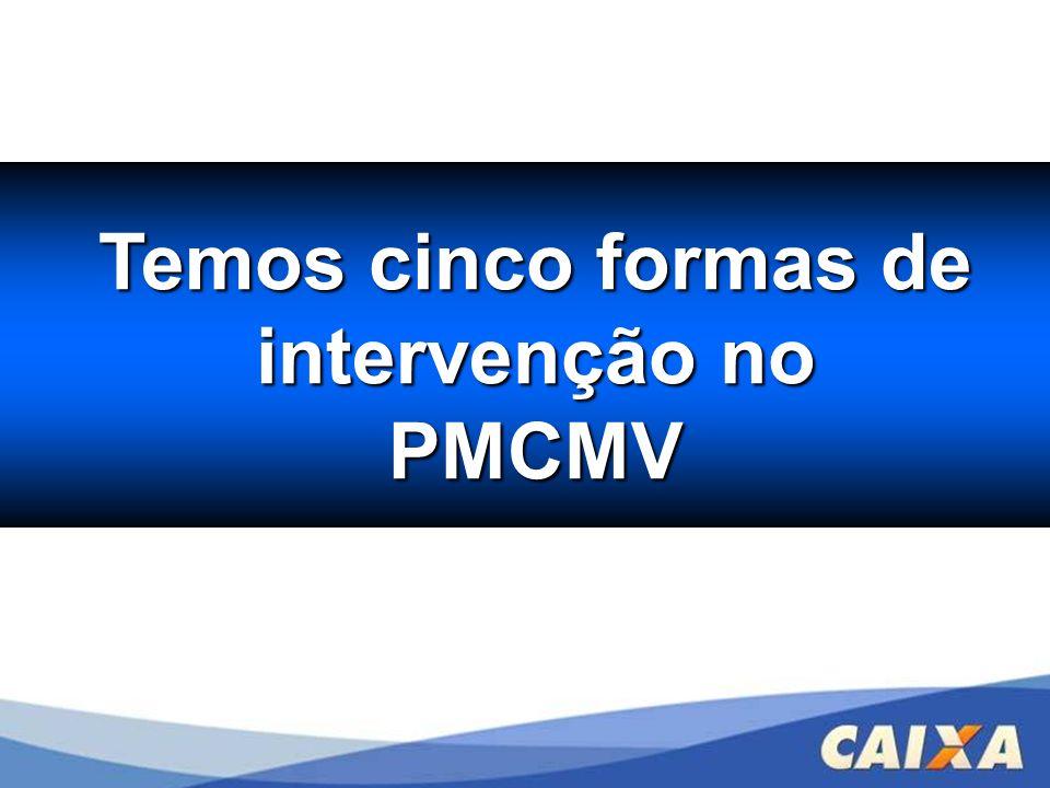 Temos cinco formas de Temos cinco formas de intervenção no intervenção no PMCMV PMCMV