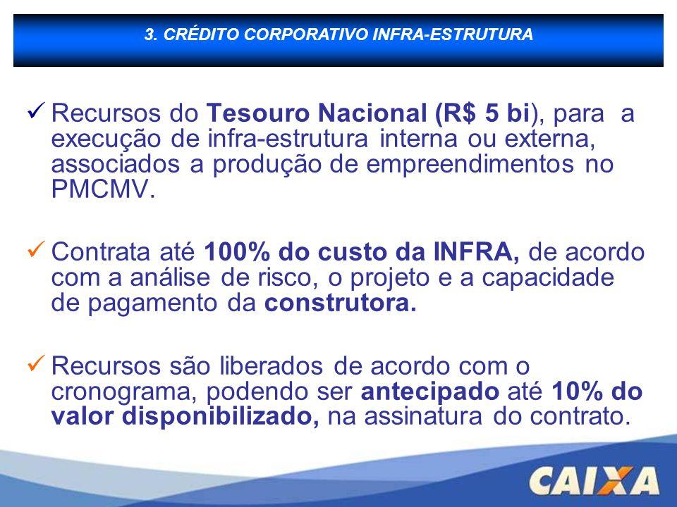 B - Financiamento à Produção Recursos do Tesouro Nacional (R$ 5 bi), para a execução de infra-estrutura interna ou externa, associados a produção de e