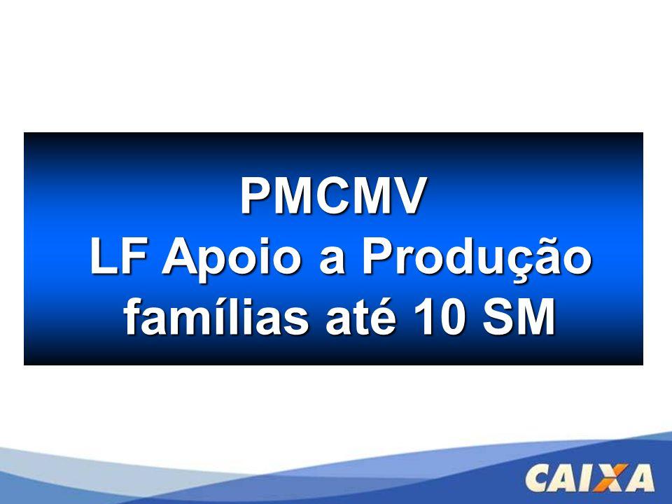 PMCMV LF Apoio a Produção LF Apoio a Produção famílias até 10 SM famílias até 10 SM