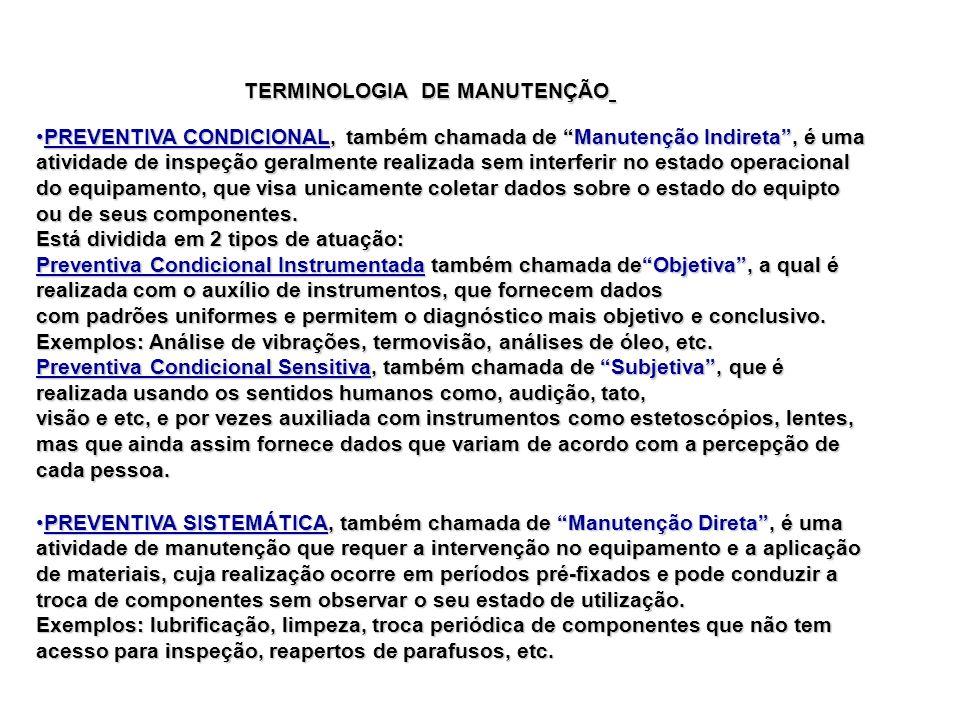 PREVENTIVA CONDICIONAL, também chamada de Manutenção Indireta, é umaPREVENTIVA CONDICIONAL, também chamada de Manutenção Indireta, é uma atividade de