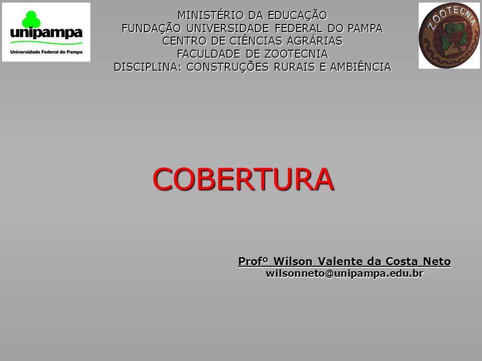 MINISTÉRIO DA EDUCAÇÃO FUNDAÇÃO UNIVERSIDADE FEDERAL DO PAMPA CENTRO DE CIÊNCIAS AGRÁRIAS FACULDADE DE ZOOTECNIA DISCIPLINA: CONSTRUÇÕES RURAIS E AMBI