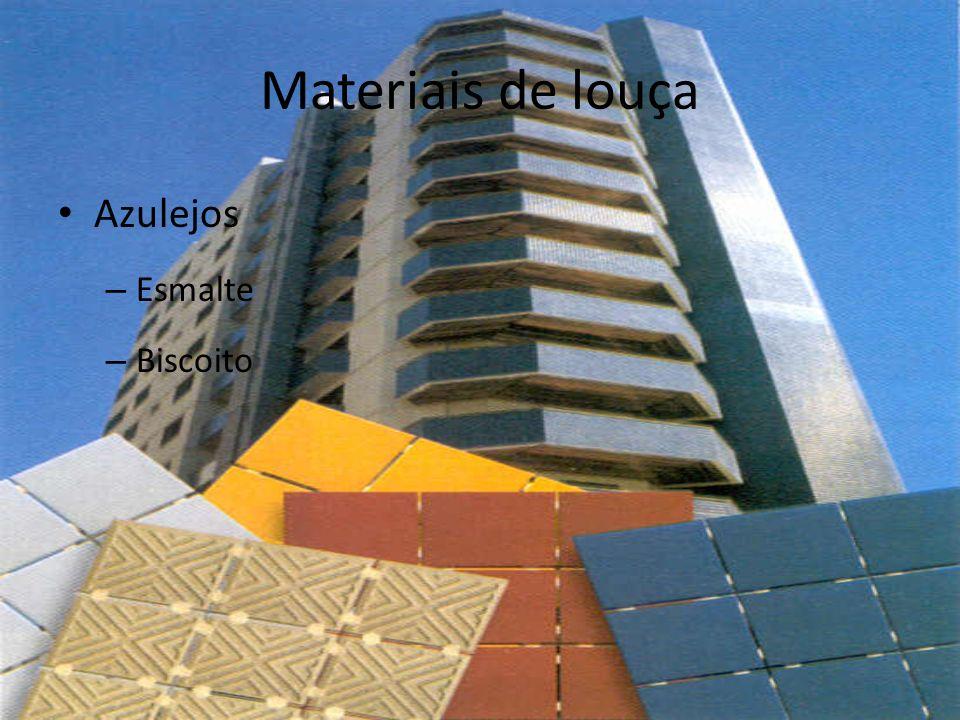 Materiais de louça Azulejos – Esmalte – Biscoito