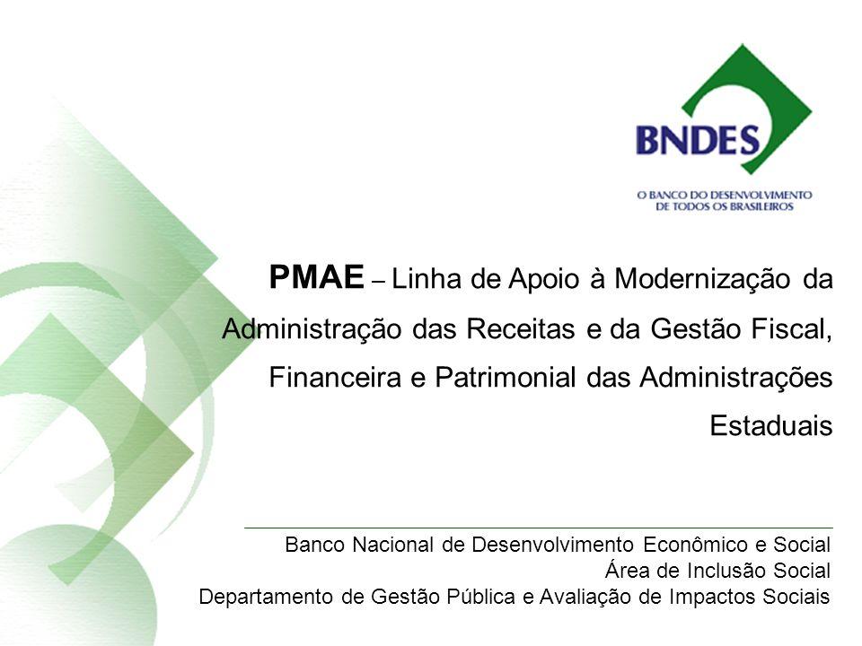 Área de Inclusão Social - BNDES PMAE – Linha de Apoio à Modernização da Administração das Receitas e da Gestão Fiscal, Financeira e Patrimonial das Ad
